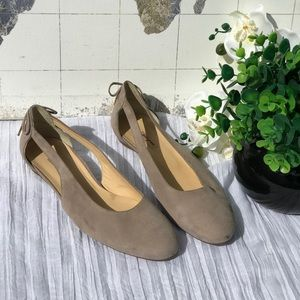 Paul green🍂🍁cutout suede leather flats Sz 10.5